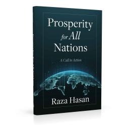 Book cover design for Prosperity for All Nations