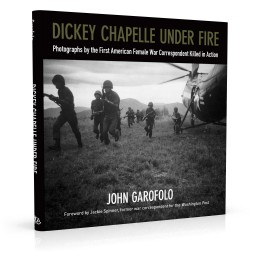 Book cover design for Dickey Chapelle Under Fire