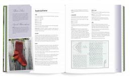 Interior book design for Favorite Sock Patterns