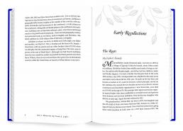 Interior book design for Memories