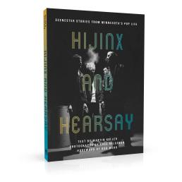 Book cover design for Hijinx and Hearsay