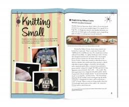 Interior book design for Astounding Knits