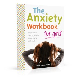 Book cover design for The Anxiety Workbook for Girls