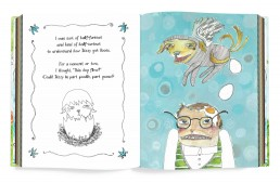 Children's book design for Dizzy the Mutt with the Propeller Butt