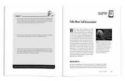 Interior book design for Fact vs. Fiction