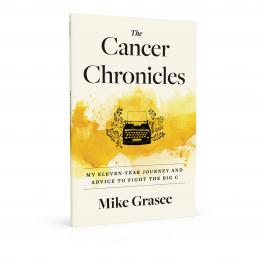 Book cover design for The Cancer Chronicles