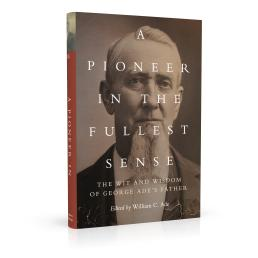 Book cover design for A Pioneer in the Fullest Sense
