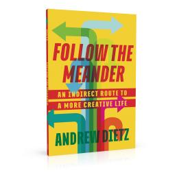 Book cover design for Follow the Meander by Andrew Dietz